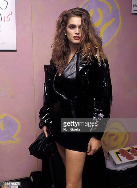 Model Cindy Crawford attends 'The Love Ball' to Benefit the Design Industries Foundation for AIDS on May 10 1989 at Roseland in New York City