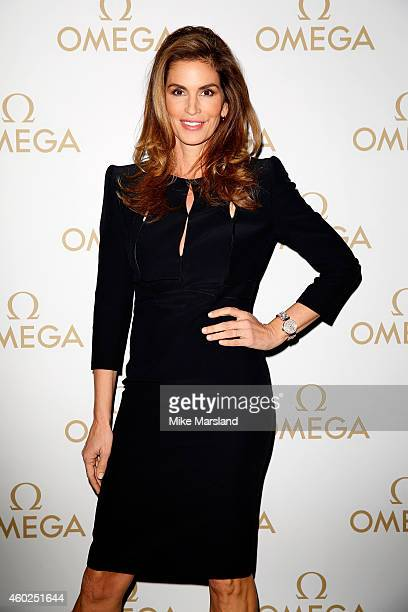 Model Cindy Crawford attends the Omega Oxford Street Store Opening Party at The Shard on December 10 2014 in London England
