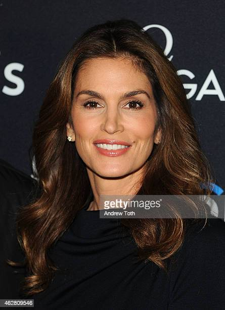 Model Cindy Crawford attends the 'The Hospital In The Sky' New York special screening at New York Historical Society on February 5 2015 in New York...