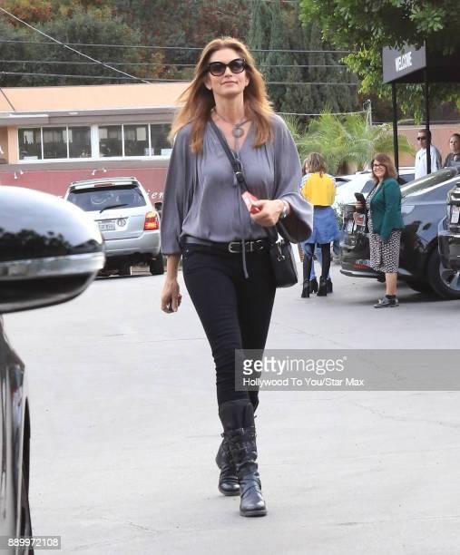 Model Cindy Crawford is seen on December 10 2017 in Los Angeles CA