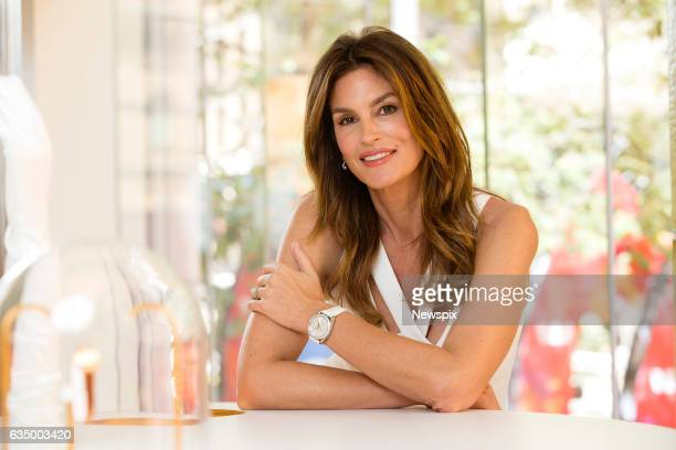 SYDNEY NSW Model Cindy Crawford poses during an Omega Boutique media call in Sydney New South Wales