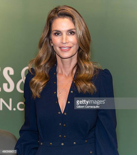 Model Cindy Crawford Signs Copies Of 'Becoming Cindy Crawford' at Barnes Noble 5th Avenue on September 29 2015 in New York City