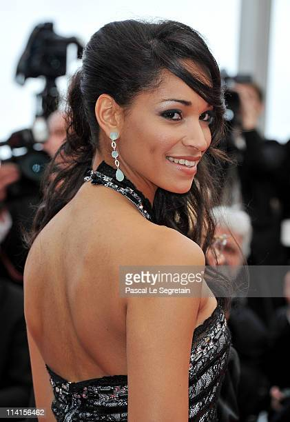 Model Cindy Fabre attends the 'Habemus Papam' premiere at the Palais des Festivals during the 64th Cannes Film Festival on May 13 2011 in Cannes...