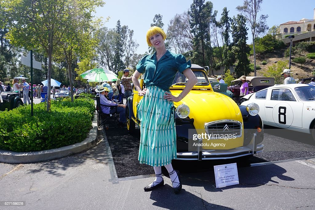 1974 model Citroen 2CV6 is on display during Concours d'Elegance at Greystone Mansion in Beverly Hills, Los Angeles, USA, on May 2, 2016. 140 classic automobiles from 18 different categories are displayed during the Concours d'Elegance classic automobile show.