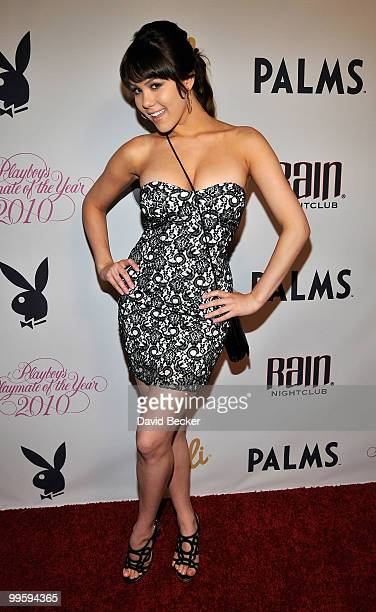Model Claire Sinclair arrives at a party to introduce model Hope Dworaczyk as the Playboy's Playmate of the Year at The Palms Casino Resort on May 15...
