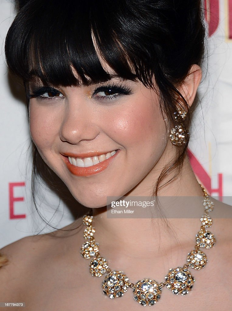 Model Claire Sinclair arrives at the premiere of the show 'Pin Up' at the Stratosphere Casino Hotel on April 29, 2013 in Las Vegas, Nevada.