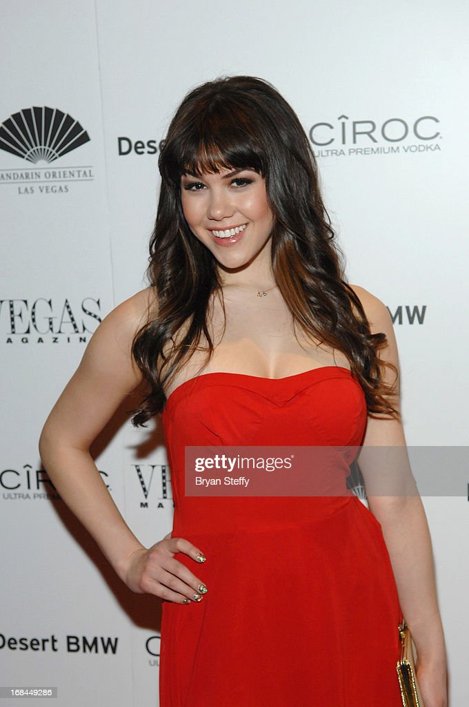 Model Claire Sinclair arrives at Vegas Magazine's 10th anniversary celebration at Mandarin Oriental, Las Vegas at CityCenter on May 9, 2013 in Las Vegas, Nevada.