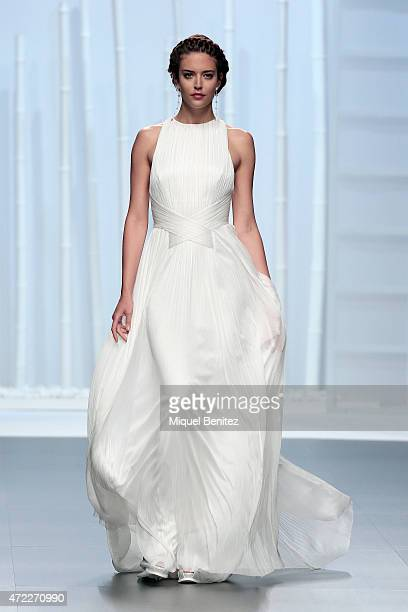 Model Clara Alonso walks the runway at the Rosa Clara fashion show during 'Barcelona Bridal Week 2015' on May 5 2015 in Barcelona Spain