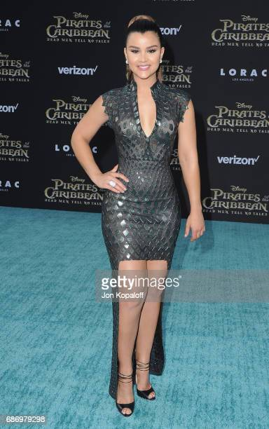 Model Clarissa Molina arrives at the Los Angeles Premiere 'Pirates Of The Caribbean Dead Men Tell No Tales' at Dolby Theatre on May 18 2017 in...