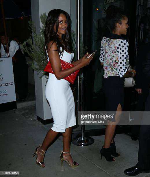 Model Claudia Jordan and actress Annie Ilonzeh are seen on September 27 2016 in Los Angeles California