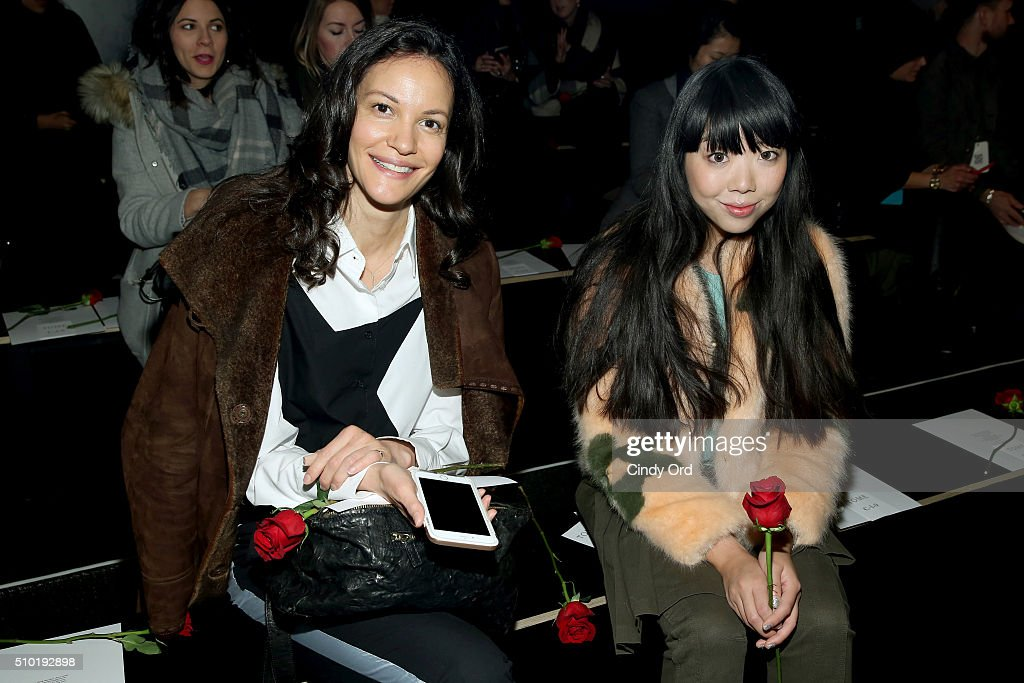 Model Claudia Mason (L) and blogger Susie Bubble attend the Tome Fall 2016 fashion show during New York Fashion Week: The Shows at The Dock, Skylight at Moynihan Station on February 14, 2016 in New York City.