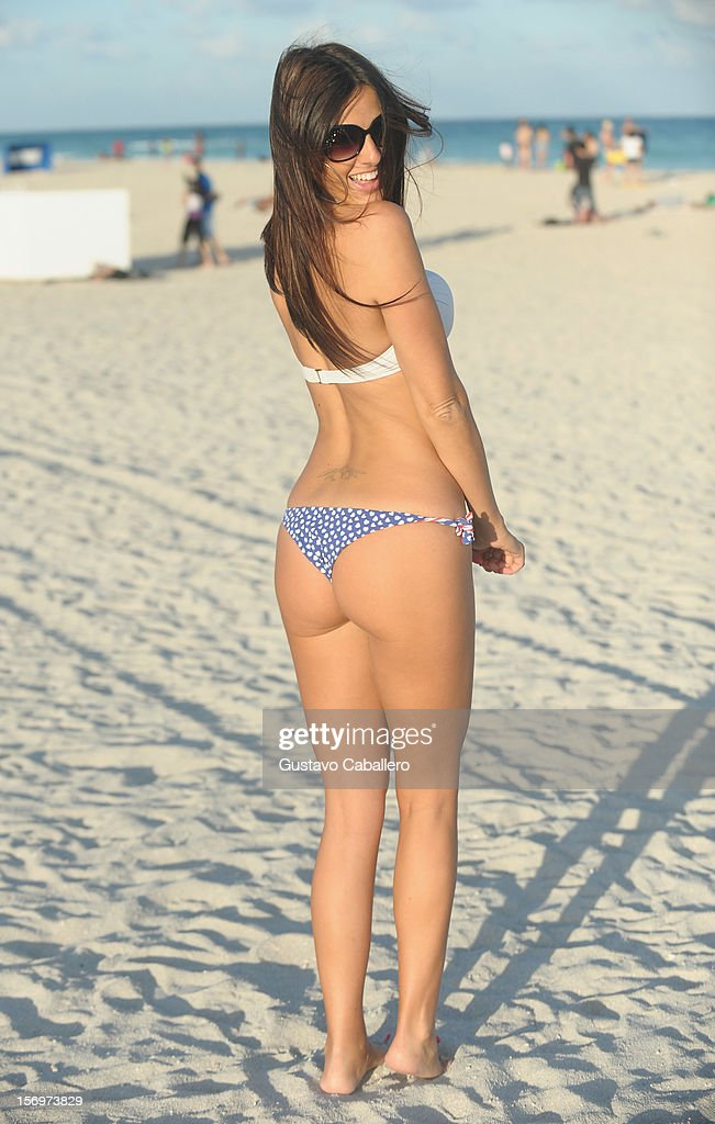 Model Claudia Romani is sighted on South Beach on November 26, 2012 in Miami Beach, Florida.
