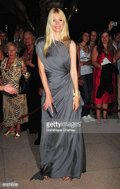 Model Claudia Schiffer attends the Official Dinner during the 65th Venice Film Festival held at the Excelsior Hotel on August 27 2008 in Venice Italy