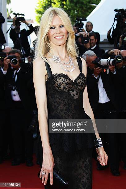 Model Claudia Schiffer attends the 'This Must Be The Place' premiere during the 64th Annual Cannes Film Festival at Palais des Festivals on May 20...