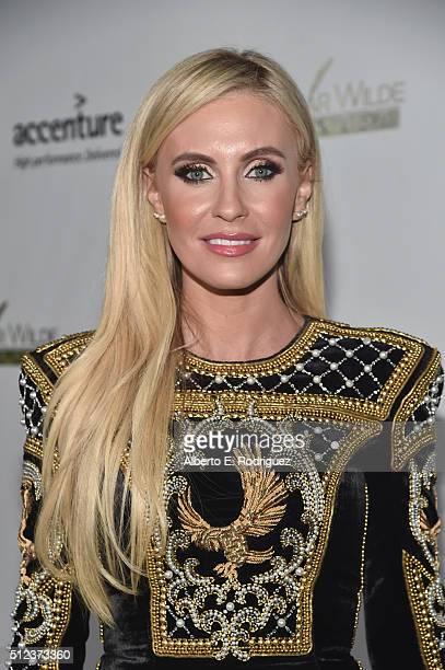 Model Claudine Keane attends the Oscar Wilde Awards at Bad Robot on February 25 2016 in Santa Monica California