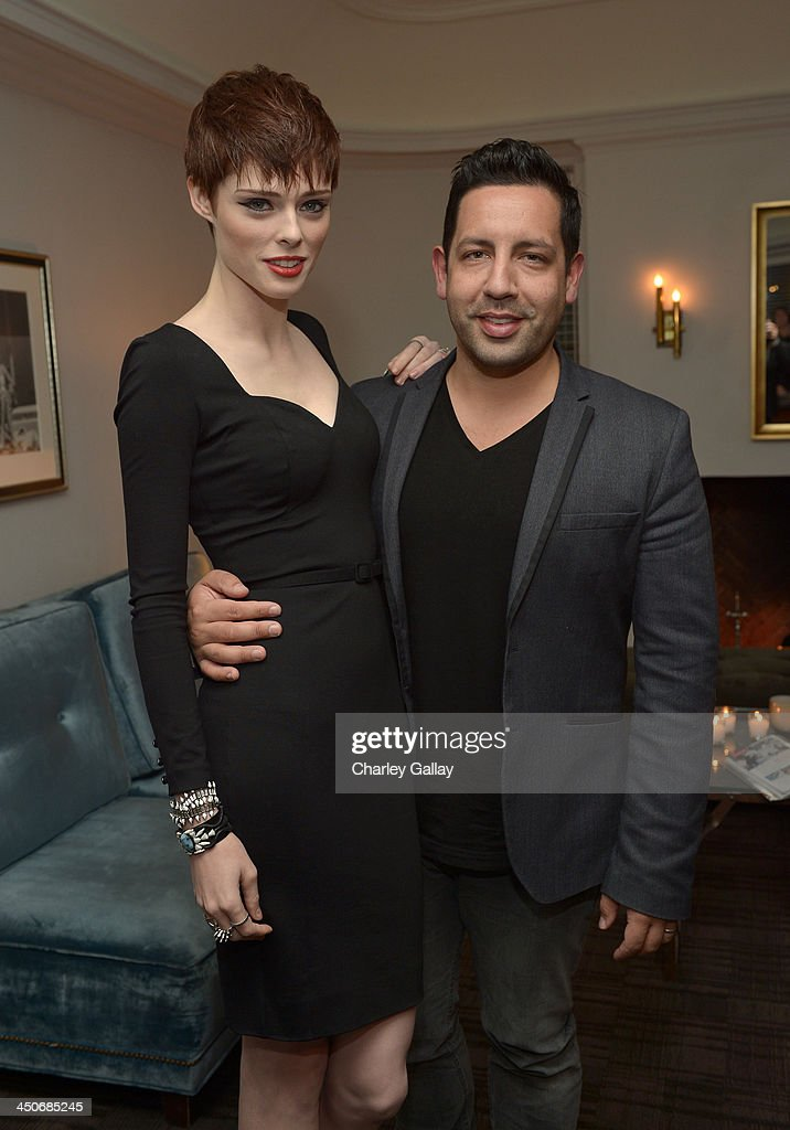 Model Coco Rocha (L) and guest attend the launch celebration of the Banana Republic L'Wren Scott Collection hosted by Banana Republic, L'Wren Scott and Krista Smith at Chateau Marmont on November 19, 2013 in Los Angeles, California.