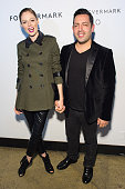 Model Coco Rocha and James Conran attend Hold My Hand Forever Exhibition By Forevermark at Highline Studios on November 17 2014 in New York City