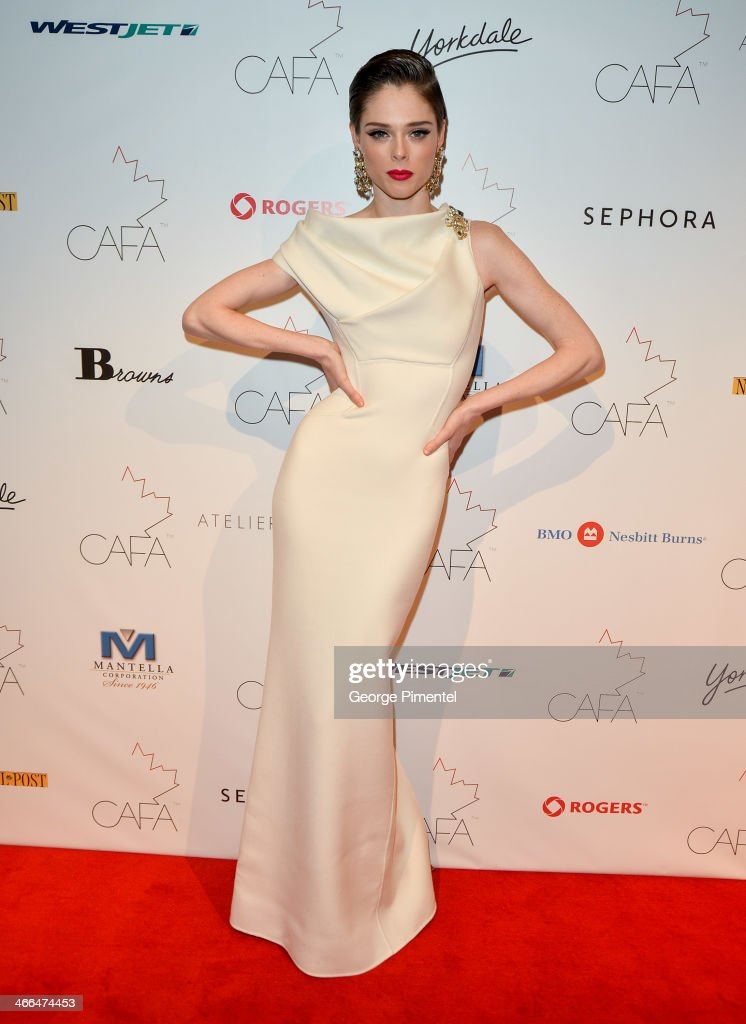 Model <a gi-track='captionPersonalityLinkClicked' href=/galleries/search?phrase=Coco+Rocha&family=editorial&specificpeople=4172514 ng-click='$event.stopPropagation()'>Coco Rocha</a> arrives at the 1st Annual Canadian Arts and Fashion Awards at the Fairmont Royal York Hotel on February 1, 2014 in Toronto, Canada.