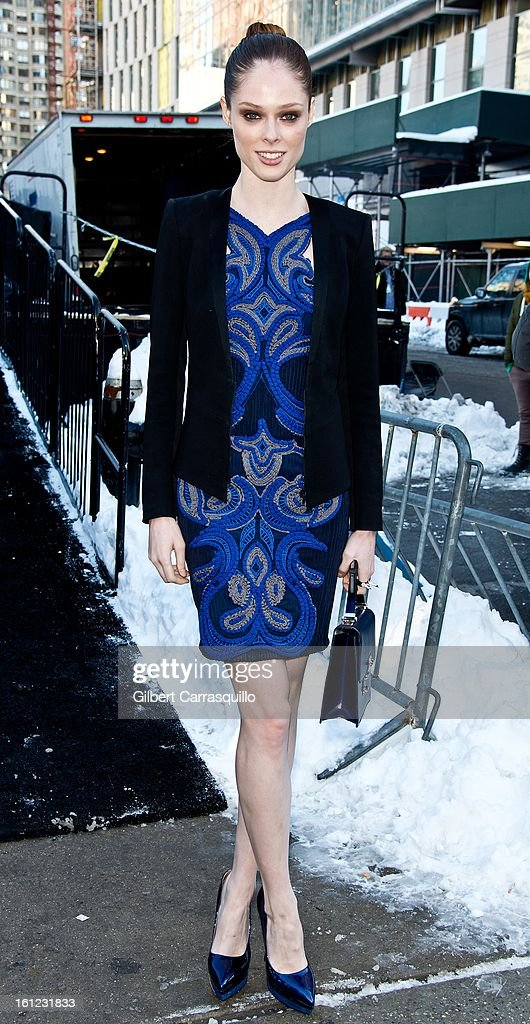 Model Coco Rocha attends Fall 2013 Mercedes-Benz Fashion Show at The Theater at Lincoln Center on February 9, 2013 in New York City.