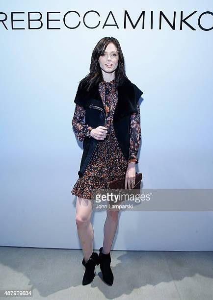 Model Coco Rocha attends Rebecca Minkoff during Spring 2016 New York Fashion Week The Shows at the Gallery Skylight at Clarkson Sq on September 12...
