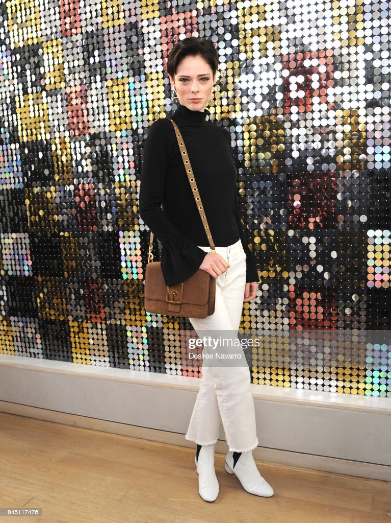 Model Coco Rocha attends Rebecca Minkoff fashion show during New York Fashion Week at Rebecca Minkoff on September 9, 2017 in New York City.