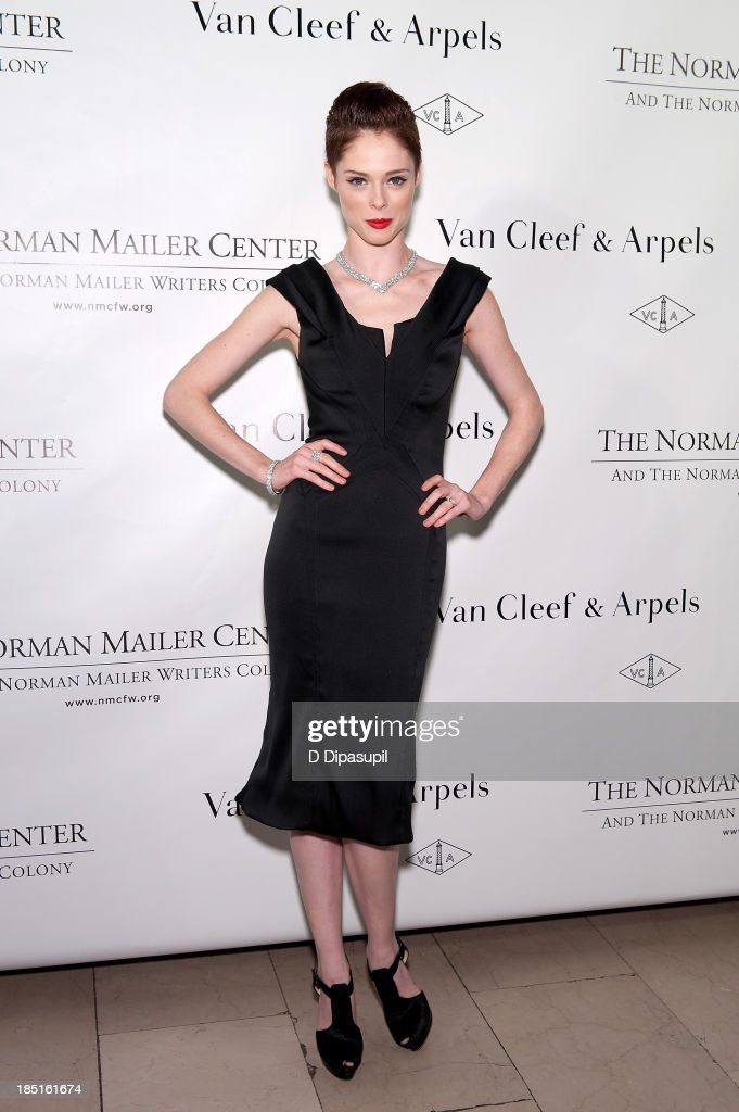 Model <a gi-track='captionPersonalityLinkClicked' href=/galleries/search?phrase=Coco+Rocha&family=editorial&specificpeople=4172514 ng-click='$event.stopPropagation()'>Coco Rocha</a> attends the 2013 Norman Mailer Center gala at the New York Public Library on October 17, 2013 in New York City.