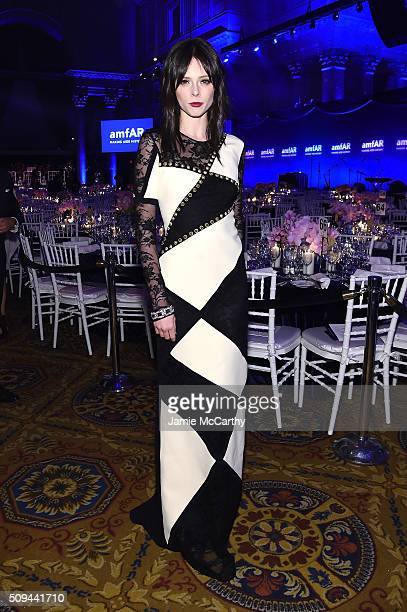 Model Coco Rocha attends the 2016 amfAR New York Gala at Cipriani Wall Street on February 10 2016 in New York City