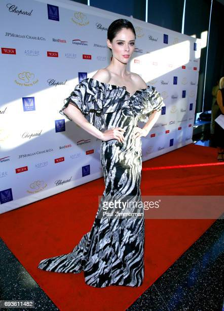 Model Coco Rocha attends the 2017 Graduation Gala to benefit Happy Hearts Fund held at Aspire at One World Trade Center Observatory on June 7 2017 in...