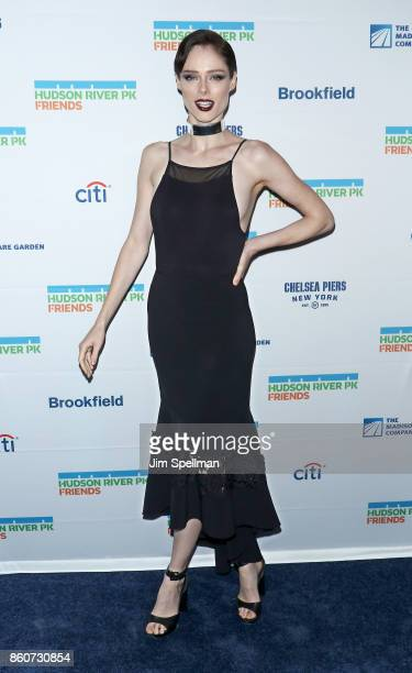 Model Coco Rocha attends the 2017 Hudson River Park gala at Hudson River Park's Pier 62 on October 12 2017 in New York City