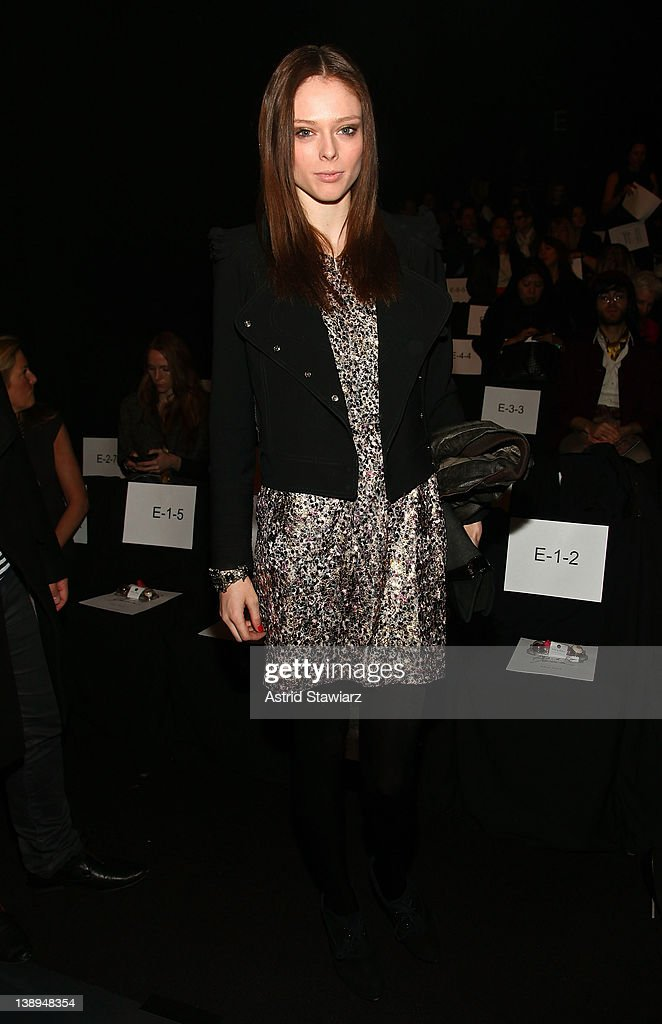 Model Coco Rocha attends the Badgley Mischka Fall 2012 fashion show during Mercedes-Benz Fashion Week at The Theatre at Lincoln Center on February 14, 2012 in New York City.
