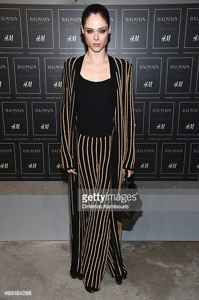 Model Coco Rocha attends the BALMAIN X HM Collection Launch at 23 Wall Street on October 20 2015 in New York City