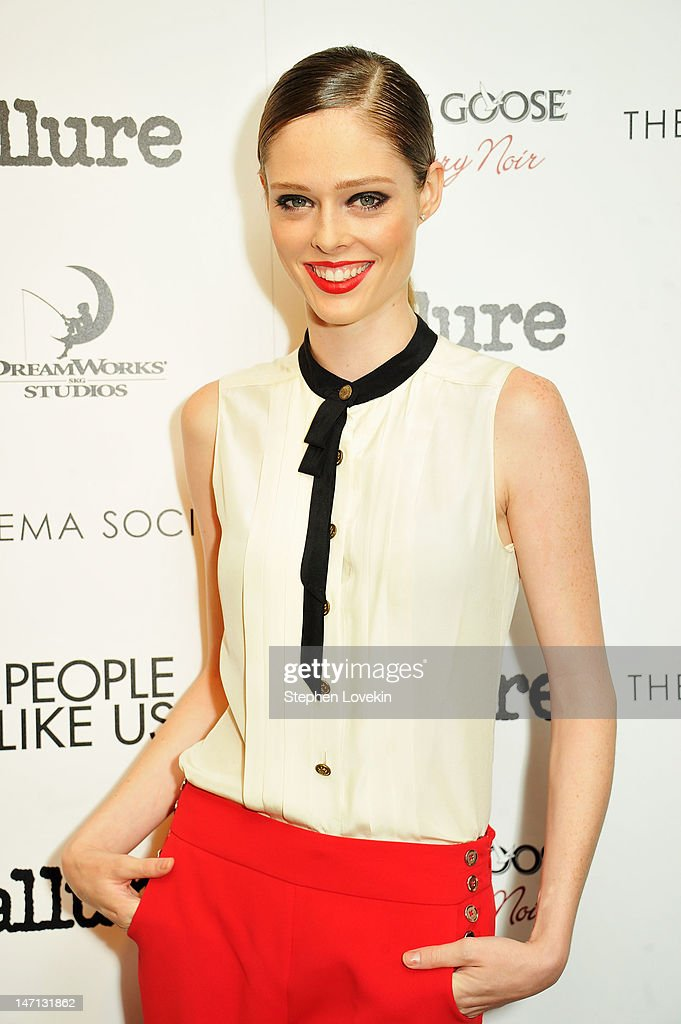Model Coco Rocha attends the Cinema Society with Linda Wells & Allure screening of DreamWorks Studios' 'People Like Us' at Clearview Chelsea Cinemas on June 25, 2012 in New York City.
