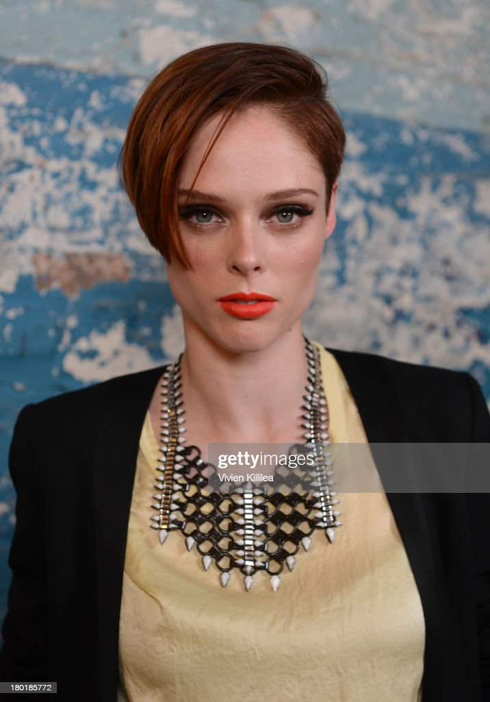 Model Coco Rocha attends the Dannijo presentation during MercedesBenz Fashion Week Spring 2014 at Industria Studios on September 9 2013 in New York...