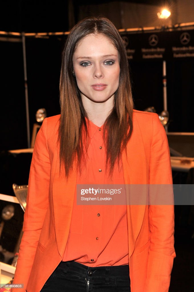 Model Coco Rocha attends The Decoded Fashion Forum & Hackathon Finale Fall 2013 fashion show during Mercedes-Benz Fashion Week at The Stage at Lincoln Center on February 14, 2013 in New York City.