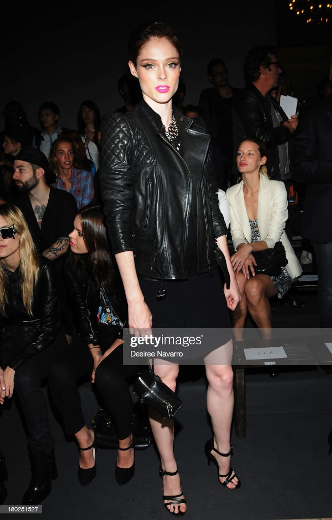 Model <a gi-track='captionPersonalityLinkClicked' href=/galleries/search?phrase=Coco+Rocha&family=editorial&specificpeople=4172514 ng-click='$event.stopPropagation()'>Coco Rocha</a> attends the Diesel Black Gold show during Spring 2014 Mercedes-Benz Fashion Week at Vanderbilt Hall at Grand Central Terminal on September 10, 2013 in New York City.