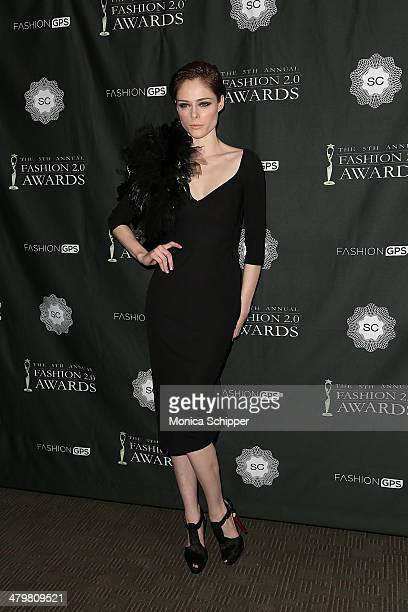 Model Coco Rocha attends the FASHION 20 Awards at Merkin Concert Hall on March 20 2014 in New York City