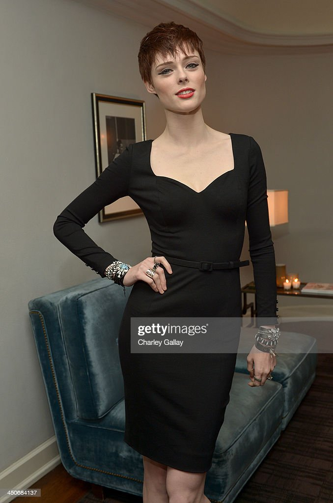 Model Coco Rocha attends the launch celebration of the Banana Republic L'Wren Scott Collection hosted by Banana Republic, L'Wren Scott and Krista Smith at Chateau Marmont on November 19, 2013 in Los Angeles, California.