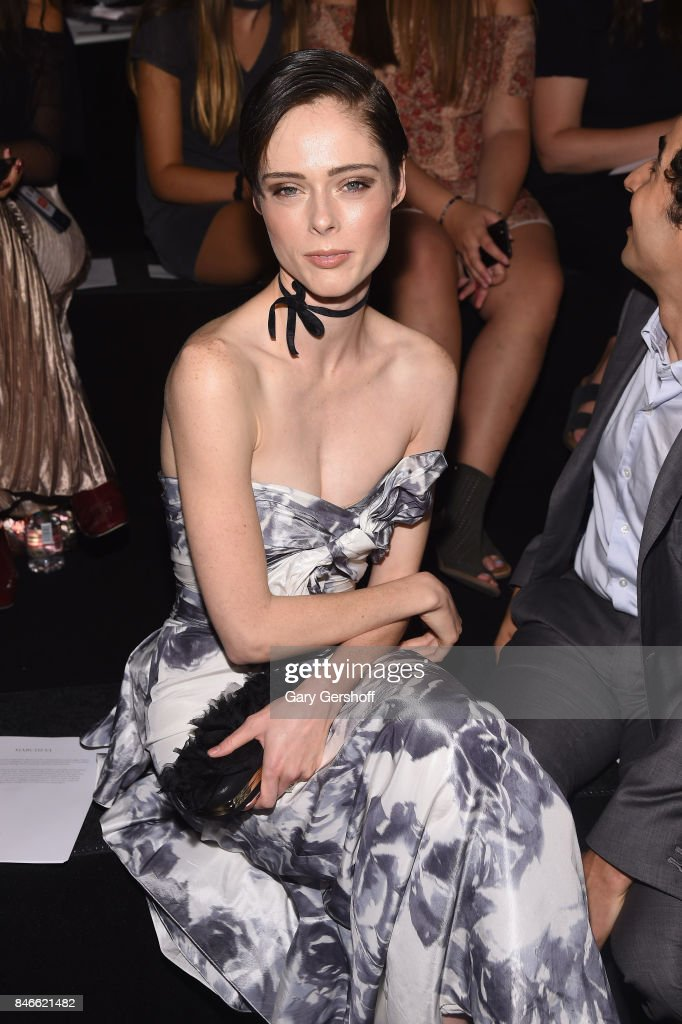 Model Coco Rocha attends the Marchesa fashion show during New York Fashion Week at Gallery 1, Skylight Clarkson Sq on September 13, 2017 in New York City.
