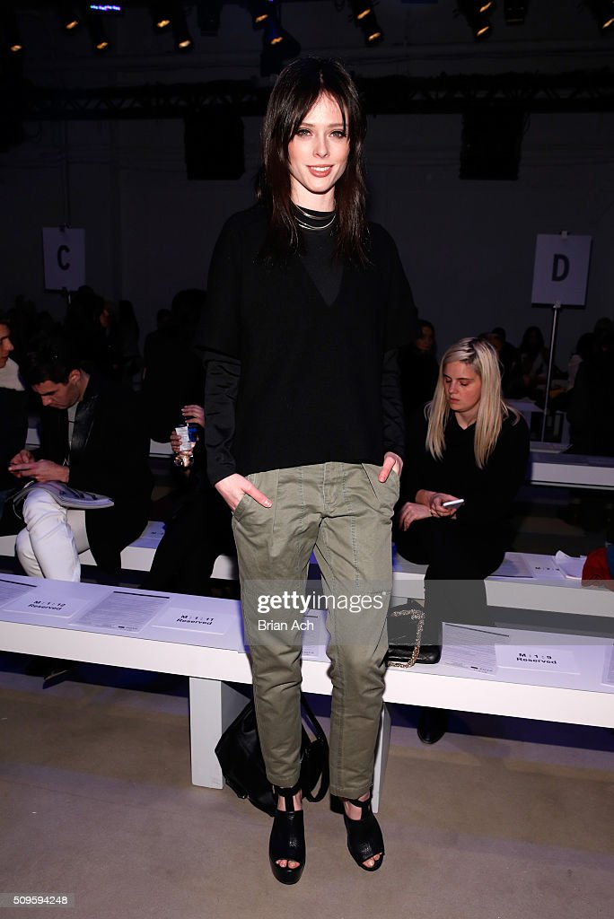 Model, <a gi-track='captionPersonalityLinkClicked' href=/galleries/search?phrase=Coco+Rocha&family=editorial&specificpeople=4172514 ng-click='$event.stopPropagation()'>Coco Rocha</a>, attends the Marissa Webb Fall 2016 fashion show during New York Fashion Week: The Shows at The Gallery, Skylight at Clarkson Square on February 11, 2016 in New York City.