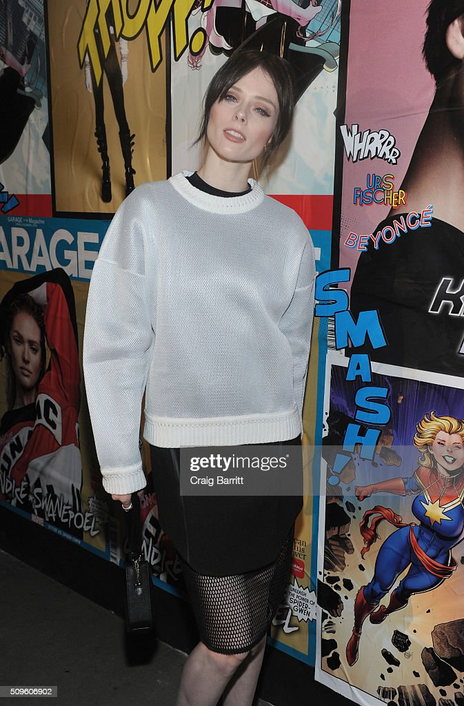 Model <a gi-track='captionPersonalityLinkClicked' href=/galleries/search?phrase=Coco+Rocha&family=editorial&specificpeople=4172514 ng-click='$event.stopPropagation()'>Coco Rocha</a> attends the Marvel and Garage Magazine New York Fashion Week Event on February 11, 2016 in New York City.
