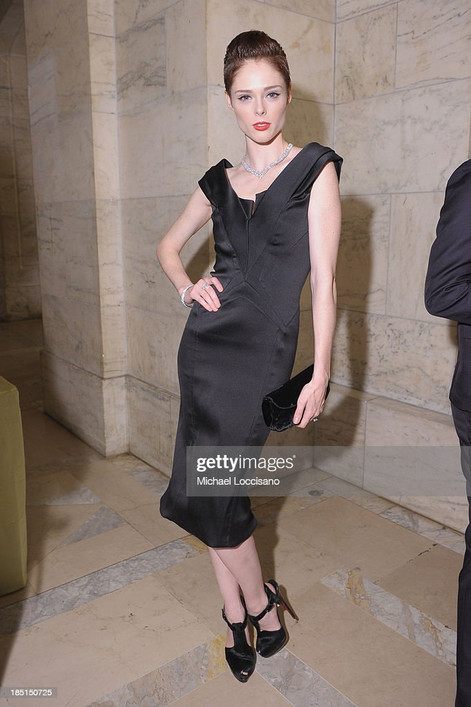 Model <a gi-track='captionPersonalityLinkClicked' href=/galleries/search?phrase=Coco+Rocha&family=editorial&specificpeople=4172514 ng-click='$event.stopPropagation()'>Coco Rocha</a> attends the Norman Mailer Center's Fifth Annual Benefit Gala sponsored by Van Cleef & Arpels at the New York Public Library on October 17, 2013 in New York City.