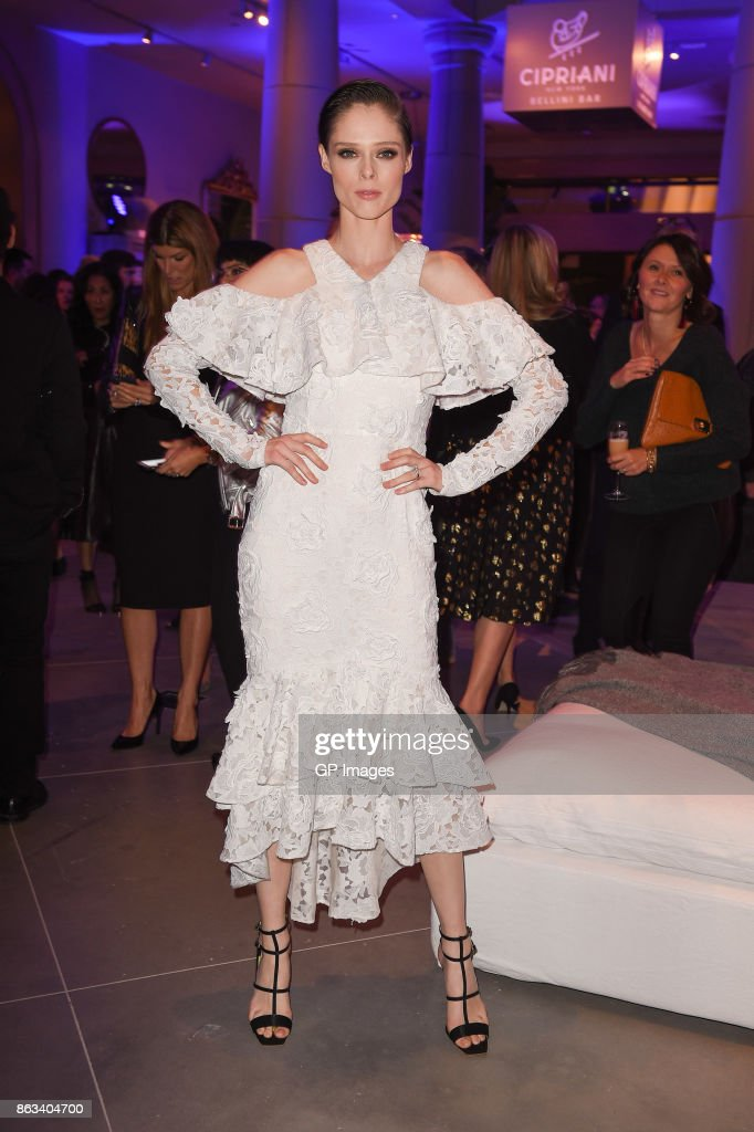 Model Coco Rocha attends the opening celebration of RH, Restoration Hardware The Unveiling Of RH Toronto, The Gallery At Yorkdale Shopping Center on October 19, 2017 in Toronto, Canada.