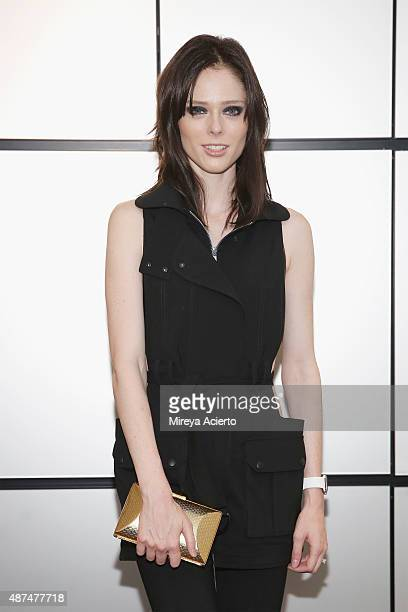 Model Coco Rocha attends the Patrick Demarchelier Exhibit Fashion Week kick off party at Christie's Auction House on September 9 2015 in New York City