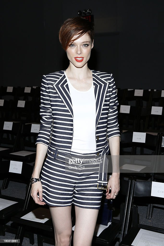 Model Coco Rocha attends the Rachel Zoe fashion show during Mercedes-Benz Fashion Week Spring 2014 at The Studio at Lincoln Center on September 11, 2013 in New York City.
