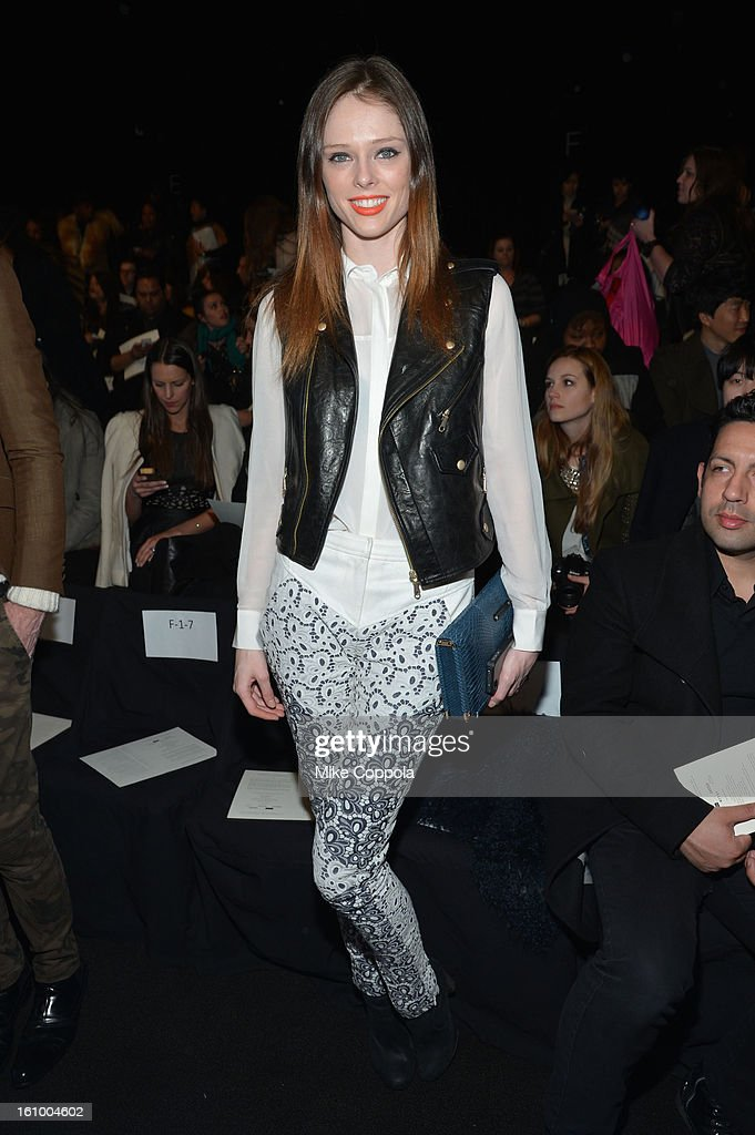 Model Coco Rocha attends the Rebecca Minkoff Fall 2013 fashion show during Mercedes-Benz Fashion at The Theatre at Lincoln Center on February 8, 2013 in New York City.