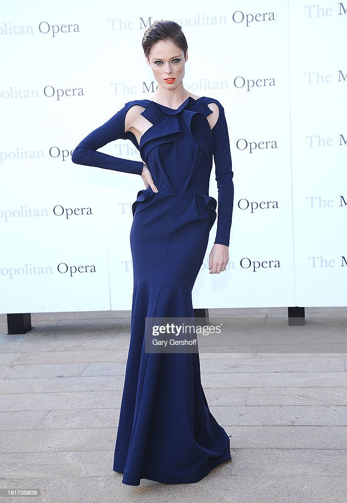 Model Coco Rocha attends the season opening performance of Tchaikovsky's 'Eugene Onegin' at The Metropolitan Opera House on September 23, 2013 in New York City.