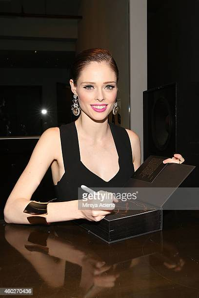 Model Coco Rocha attends The Study Of Pose opening night at Milk Gallery on December 10 2014 in New York City