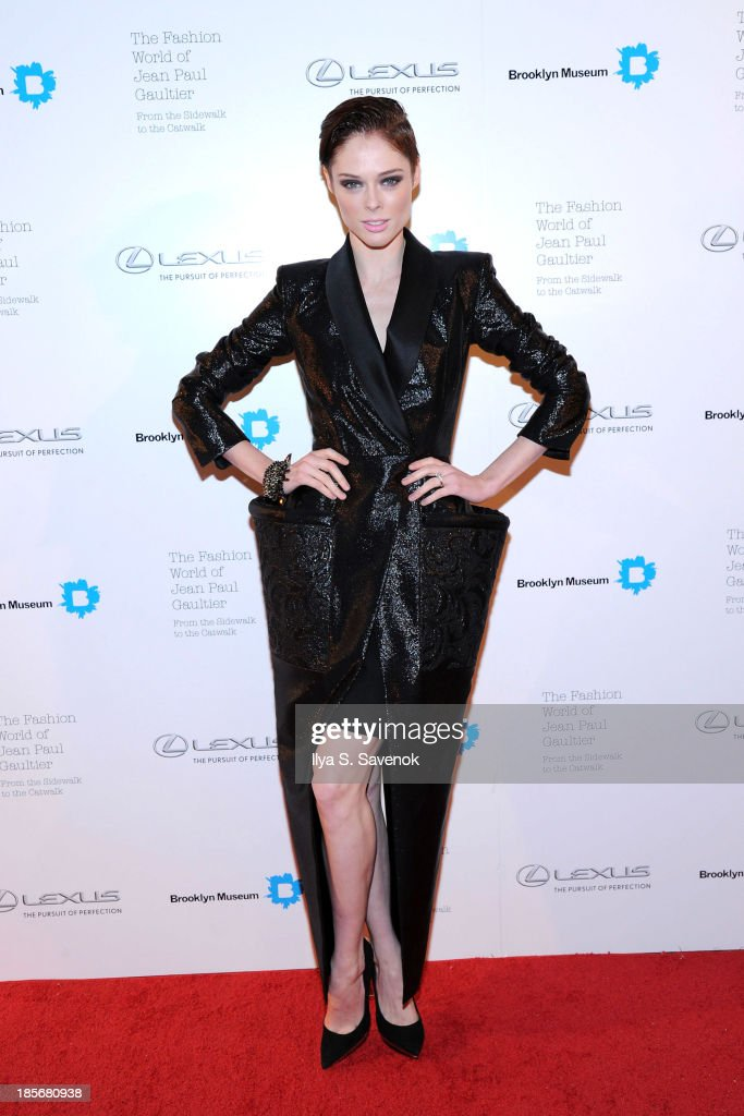 Model <a gi-track='captionPersonalityLinkClicked' href=/galleries/search?phrase=Coco+Rocha&family=editorial&specificpeople=4172514 ng-click='$event.stopPropagation()'>Coco Rocha</a> attends the VIP reception and viewing for The Fashion World of Jean Paul Gaultier: From the Sidewalk to the Catwalk at the Brooklyn Museum on October 23, 2013 in the Brooklyn borough of New York City.