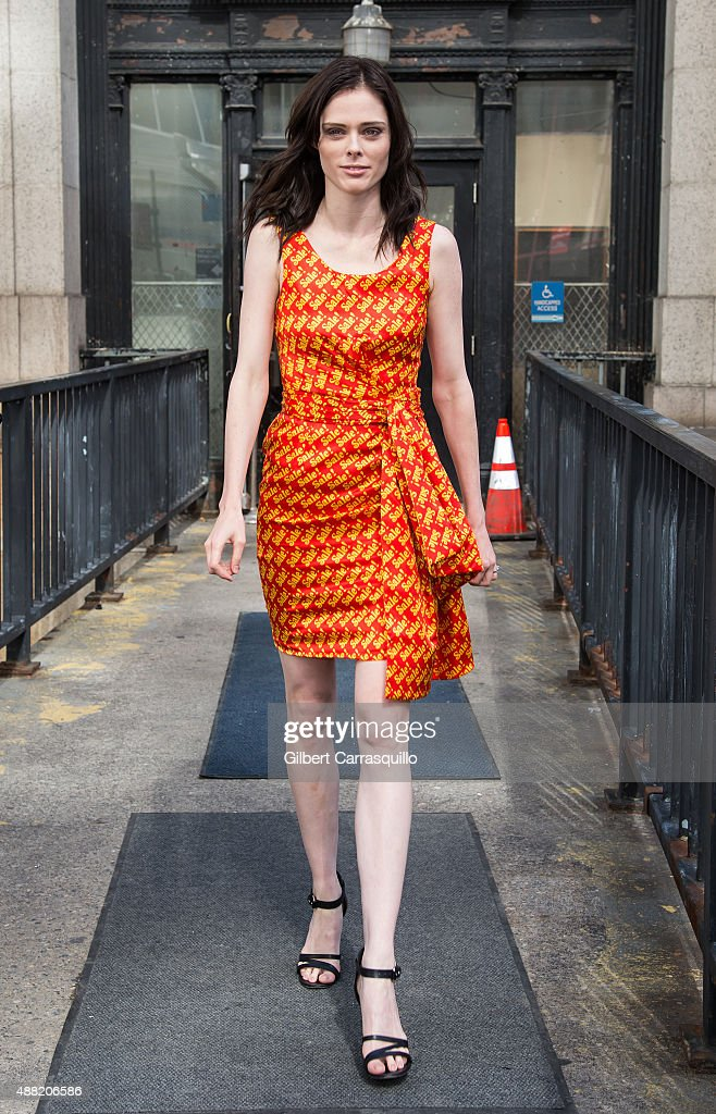 Model Coco Rocha is seen arriving at Jeremy Scott fashion show during Spring 2016 New York Fashion Week on September 14, 2015 in New York City.