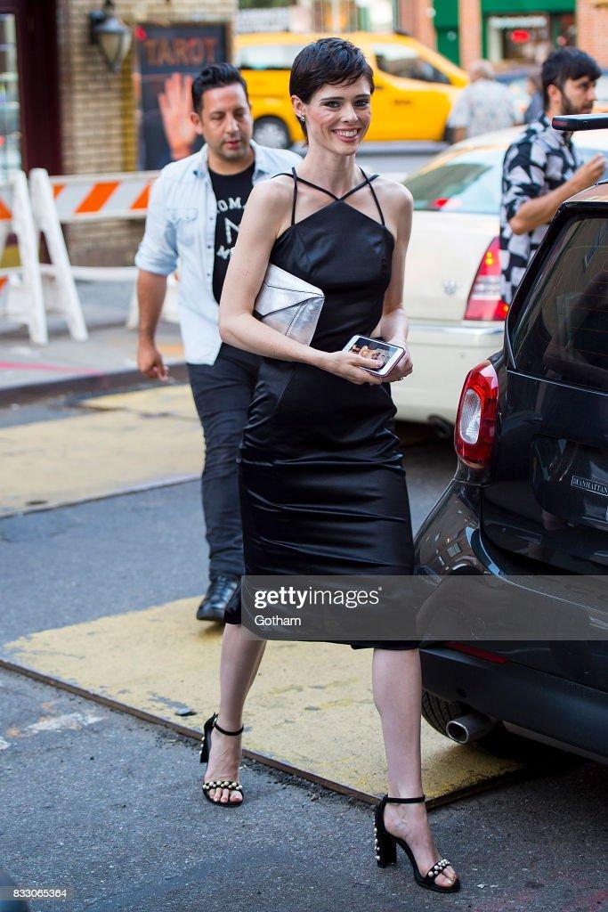 Model Coco Rocha is seen in Greenwich Village on August 16, 2017 in New York City.